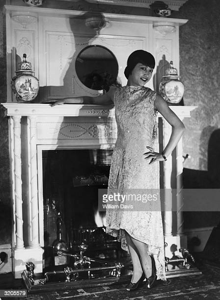American film star Anna May Wong in her London flat
