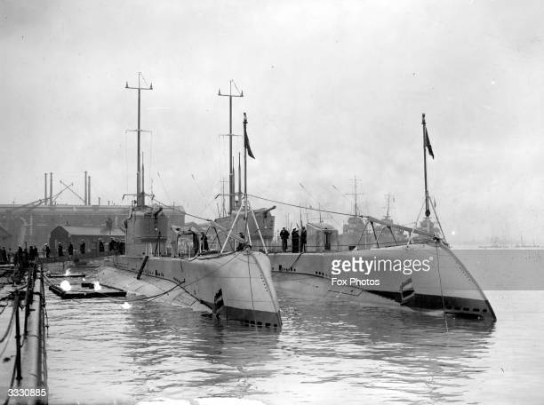Two Submarines from Chile docked at Portsmouth harbour.