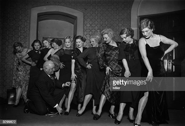 An audition at the Plaza Theatre in London for 'Mae West' look alikes who will be used for publicity purposes when Mae West's film is shown