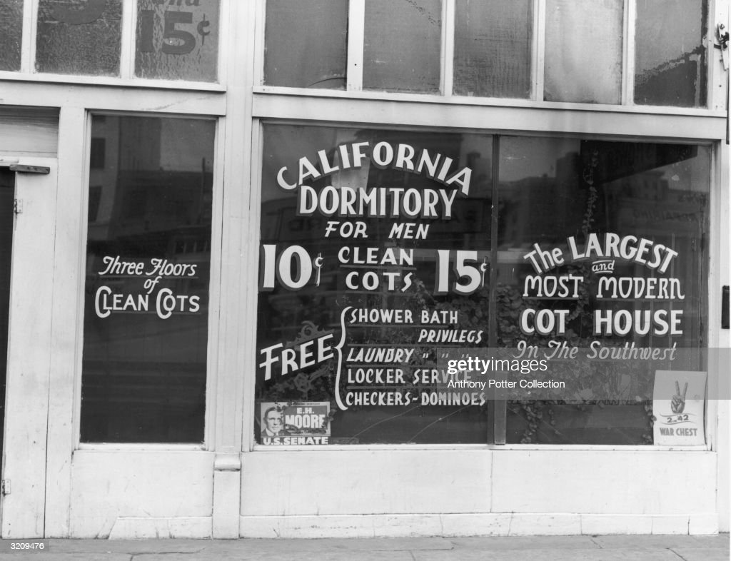 The California Dormitory for Men offers clean cots for 10 or 15 cents a night, Oklahoma City, Oklahoma.