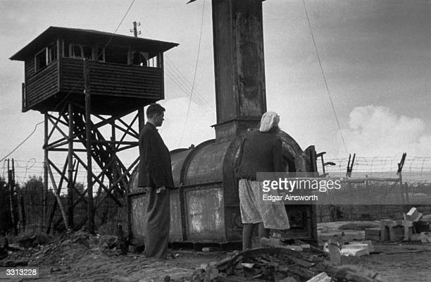 The Belsen Camp crematorium in which the bodies of thousands of Jews and others were burnt Built to deal with three bodies at a time it worked day...