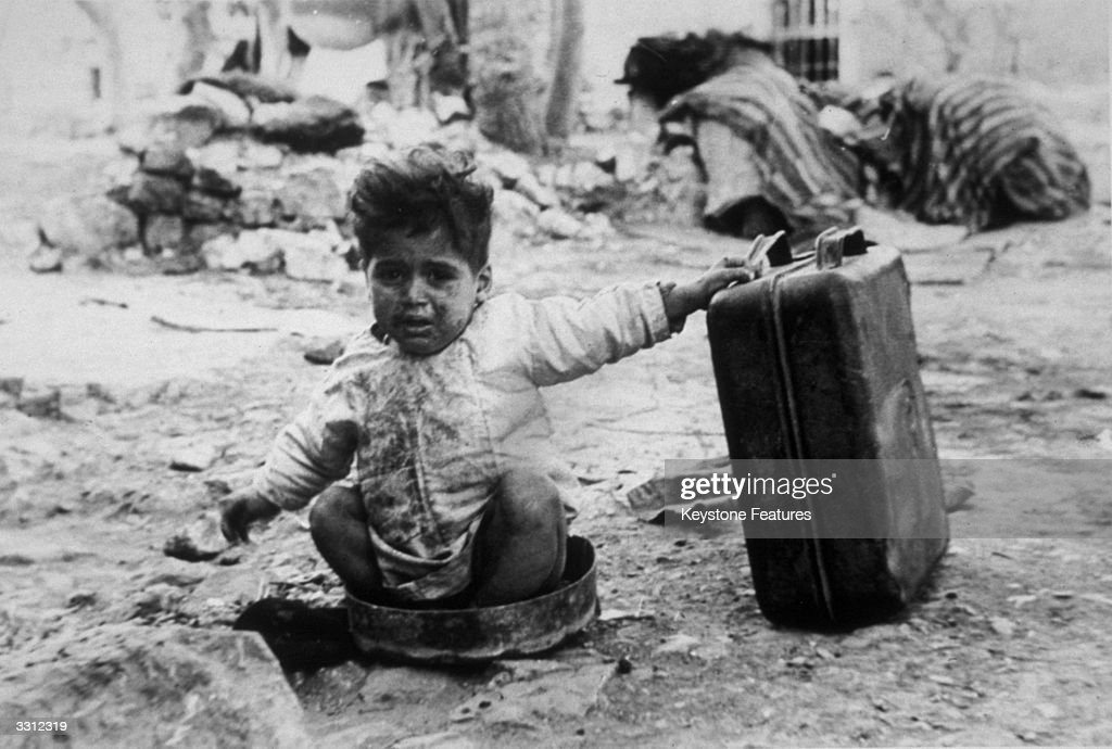 An Arab refugee in a camp in Palestine.
