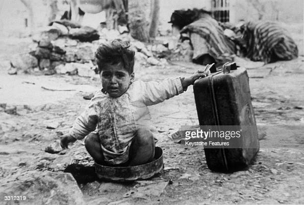 An Arab refugee in a camp in Palestine