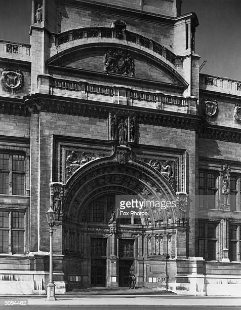 The main entrance of the Victoria And Albert Museum in London's Kensington area, home of one of the world's greatest collections of decorative, fine,...