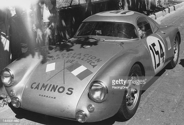 This Porsche 550 Coupe was driven in the La Carrera Panamericana otherwise known as the Mexican Road Race by car owner Jaroslav Juhan and Asturias...