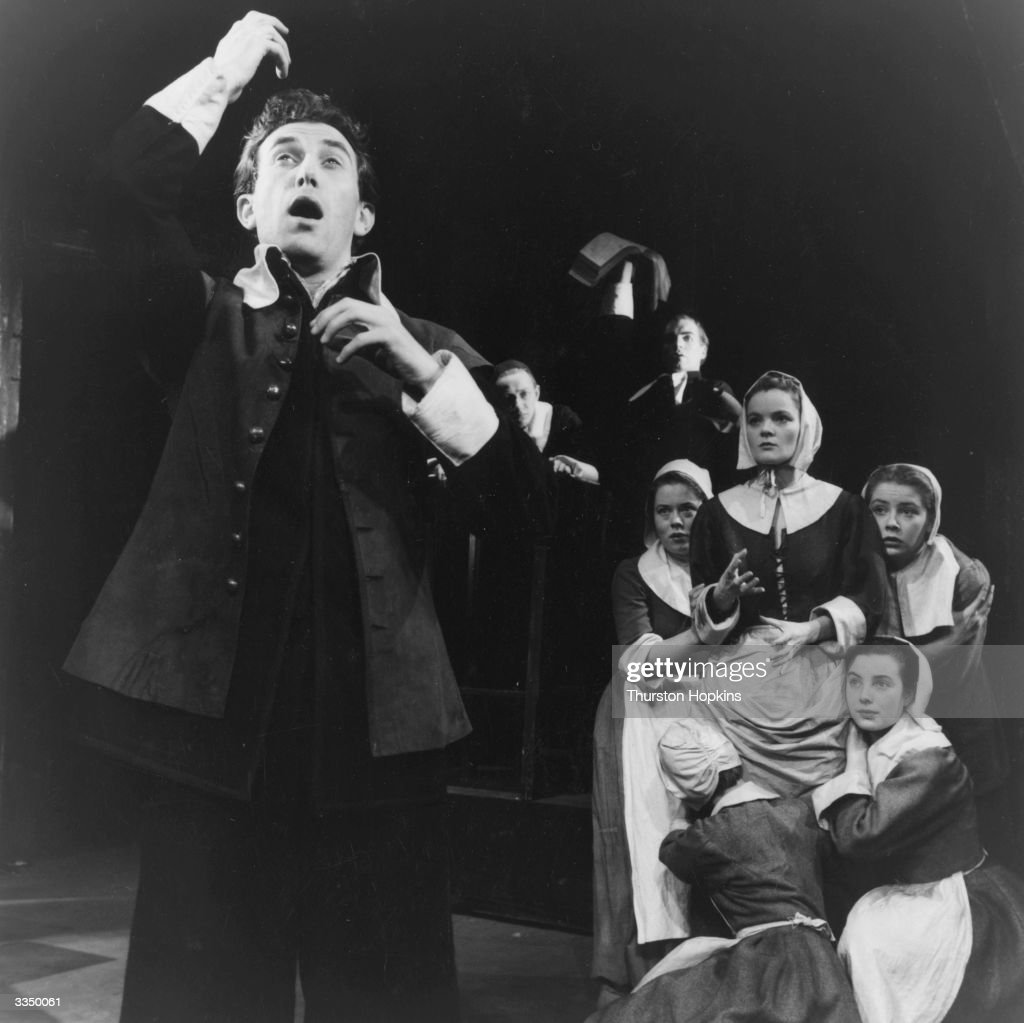 The Bristol Old Vic Company in a scene from Arthur Miller's play 'The Crucible', which told the story of the Salem witch trials. Original Publication: Picture Post - 7840 - Crucible - unpub.