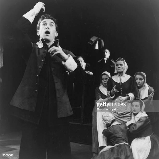 The Bristol Old Vic Company in a scene from Arthur Miller's play 'The Crucible', which told the story of the Salem witch trials. Original...