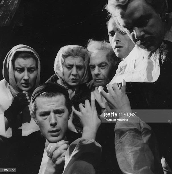 The Bristol Old Vic Company in a scene from Arthur Miller's play 'The Crucible' which told the story of the Salem witch trials Original Publication...