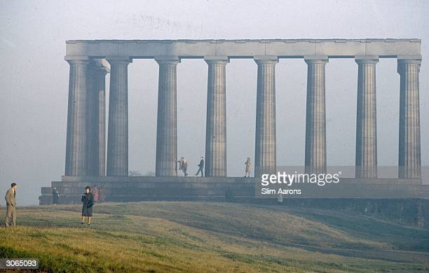National Monument, a parthenon replica on Calton Hill, Edinburgh. Designed by William Henry Playfair as a memorial to those who fell in the...