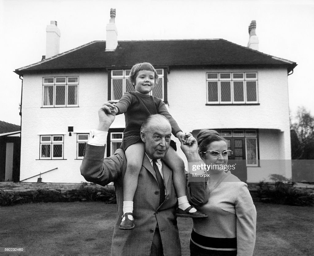 The newly weds Mr. James McCartney father of Paul and 2nd wife Angela and 4 year old Ruth in the grounds of their home i : News Photo