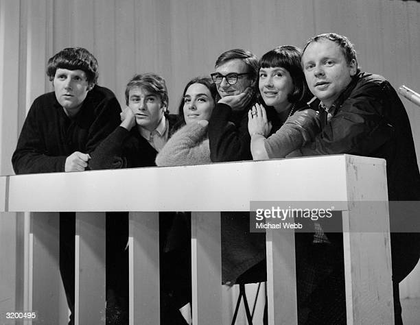 The cast of the television programme 'Not so Much a Programme More a Way of Life' David Walsh Doug Fisher Eleanor Bron Roy Hudd Barbara Evans and...