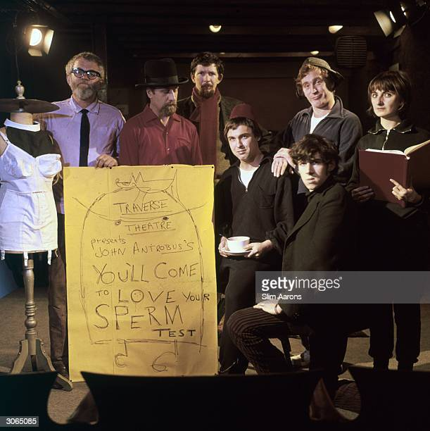 The cast of 'You'll Come to Love Your Sperm Test' at the Traverse Theatre Club The play was written by John Antrobus a fringe comedy writer also...
