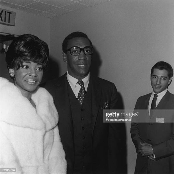 American singer Nancy Wilson and American actor and comedian Bill Cosby attend a charity benefit sponsored by the Piarist Brothers a Hungarian order...