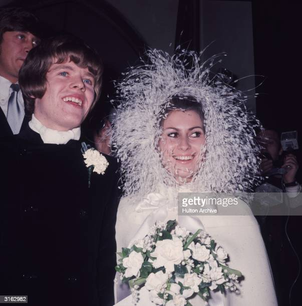 Peter Noone lead singer of the British pop group Herman's Hermits marries his French girlfriend Mireille Strasser