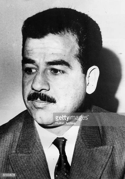 Portrait of Iraqi politician Saddam Hussein when he was Deputy Chairman of the Revolutionary Command Council of Iraq