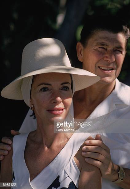 Nancy Reagan and her husband film star and Governor of California, Ronald Reagan in Acapulco, mexico.