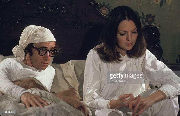 Woody Allen and Diane Keaton star in the farcical comedy 'Love and Death' set in Russia during the Napoleonic Wars