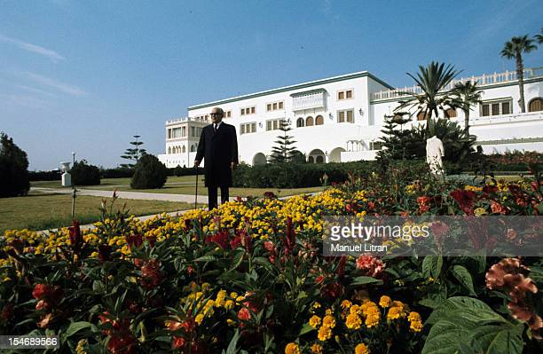 November 1975 the Tunisian president Habib Bourguiba in the Presidential Palace in Carthage the seat and residence of the President of the Republic...