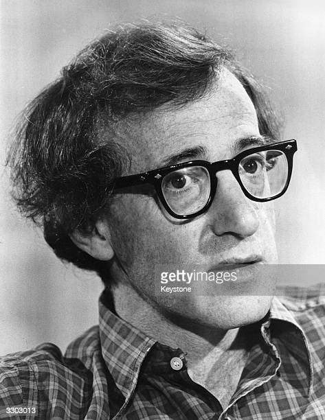 US film actor and director Woody Allen during an interview with Melvyn Bragg which was televised from New York In the interview Allen talks about his...