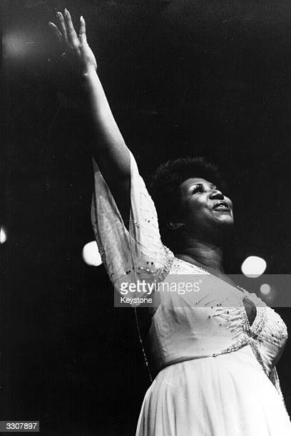 American singer Aretha Franklin the 'first lady of soul' in performance
