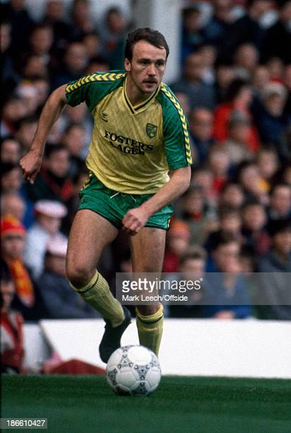 01 November 1986 English Football League Division One Liverpool v Norwich City Mike Phelan of Norwich