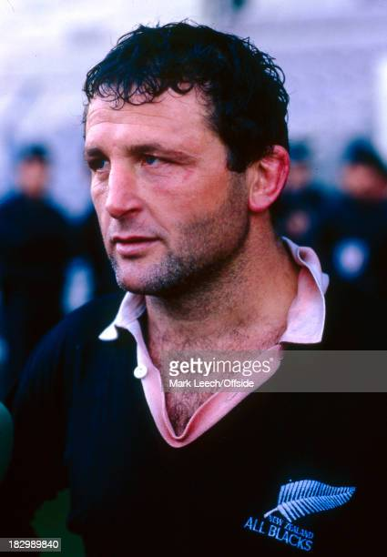 15 November 1986 International Rugby Union France v New Zealand Daniel Dubroca sporting an All blacks shirt after captaining France to victory