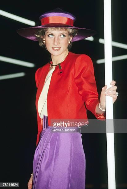 Princess Diana looks pensive during a visit to Hong Kong in November 1989