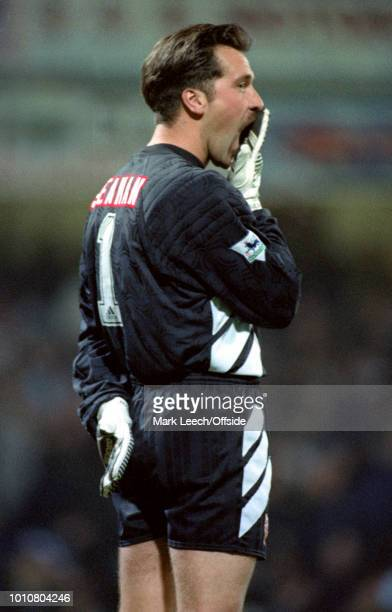 24 November 1993 London Premier League Football West Ham United v Arsenal David Seaman of Arsenal yawns showing the West Ham supporters that he is...