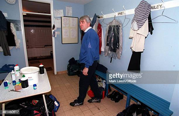 12 November 1994 FA Cup First Round Enfield FC v Cardiff City Enfield manager George Borg in the dressing room after his team had departed for the...