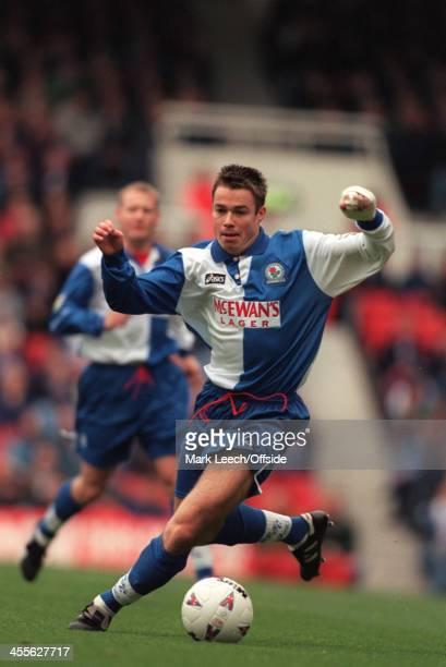 26 November 1995 Premiership Arsenal v Blackburn Rovers Graeme Le Saux of Blackburn runs with the ball
