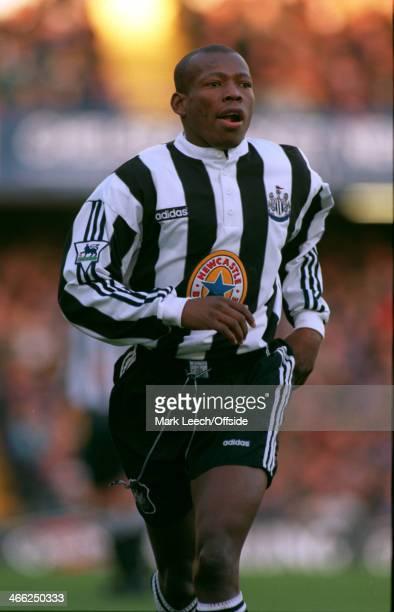 23 November 1996 Premiership Chelsea v Newcastle United Faustino Asprilla of Newcastle