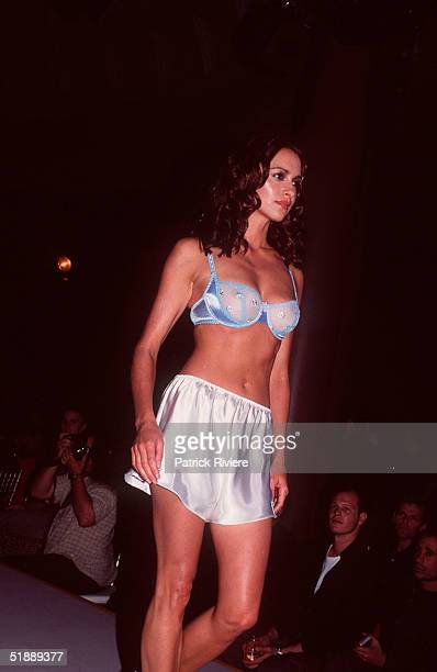 November 1999 Model Lara Feltham during the No Regrets Fashion Parade held in Sydney Australia