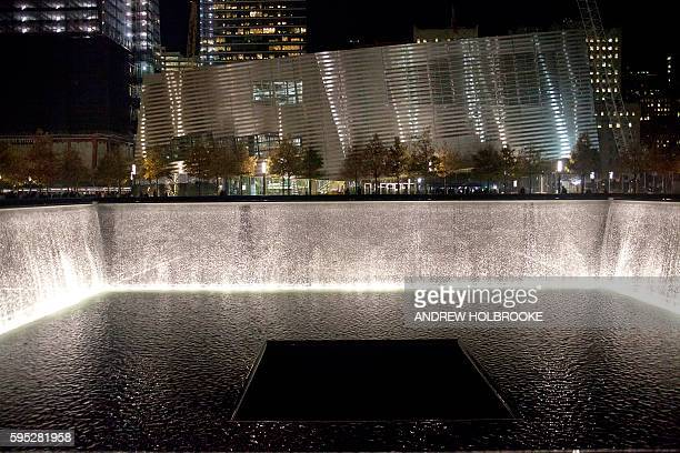November 2 2011 The South Pool looking at the 9/11 Memorial Museum North and South pools occupy the footprints where each of the two World Trade...
