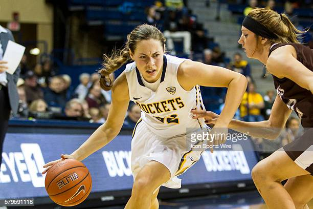 Toledo Rockets guard Ana Capotosto drives to the basket during a nonconference regular season game between the St Bonaventure Bonnies and the Toledo...