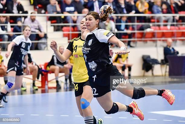 Oana Andreea Manea of CSM Bucharest in action during the Woman's European Handball Federation Champions League game between CSM Bucharest vs IK...