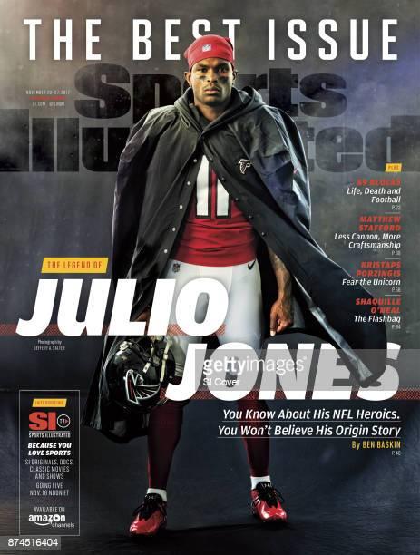 November 20 2017 November 27 2017 Sports Illustrated Cover Portrait of Atlanta Falcons wide receiver Julio Jones posing during photo shoot at Atlanta...