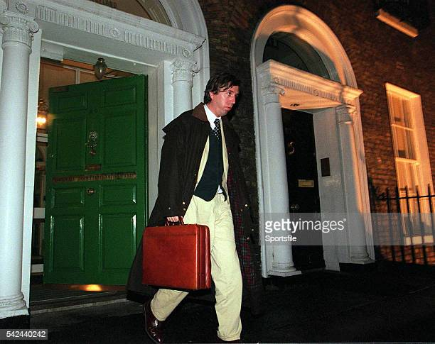 27 November 2000 John Delaney Waterford United and National Council member leaves the FAI Bord of Management meeting at the FAI Headquarters Merrion...