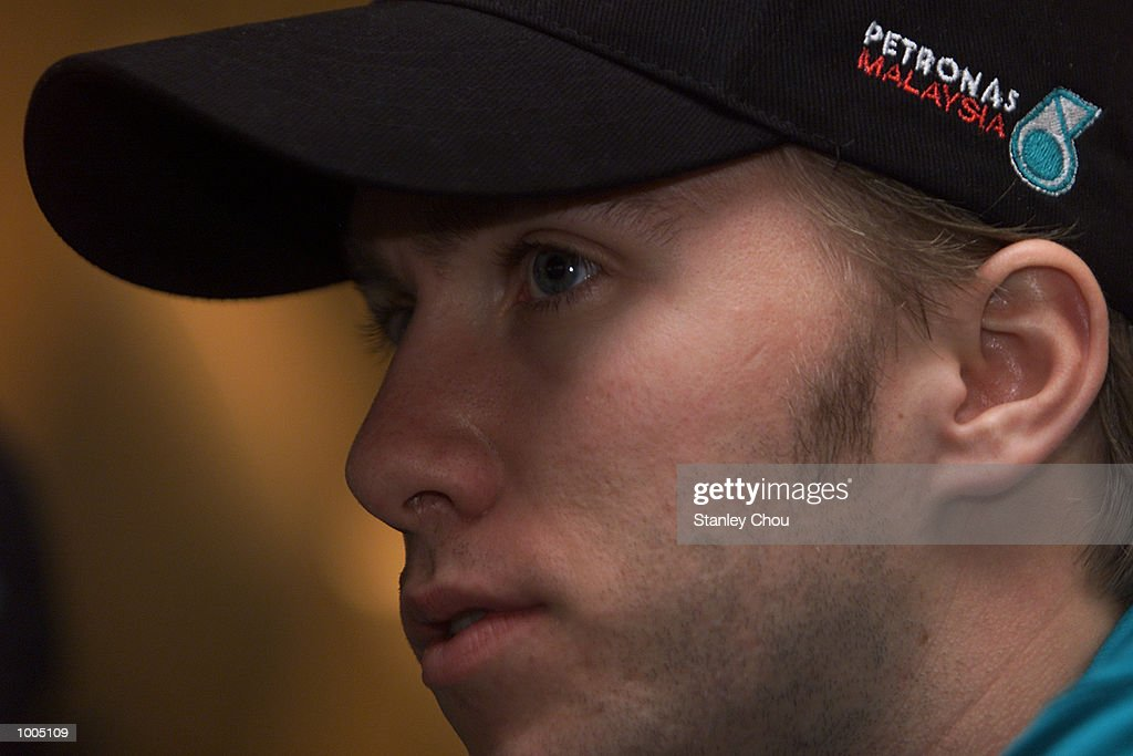 Nick Heidfeld of Sauber Petronas F1 Team at a press conference during the Sauber Petronas Team Official visits to Kuala Lumpur. DIGITAL IMAGE. Mandatory Credit: Stanley Chou/ALLSPORT