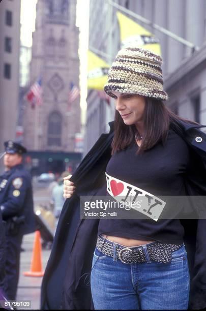 November 2001file photo of Sandra Bullock in New York She was filming a I Love NY commercial