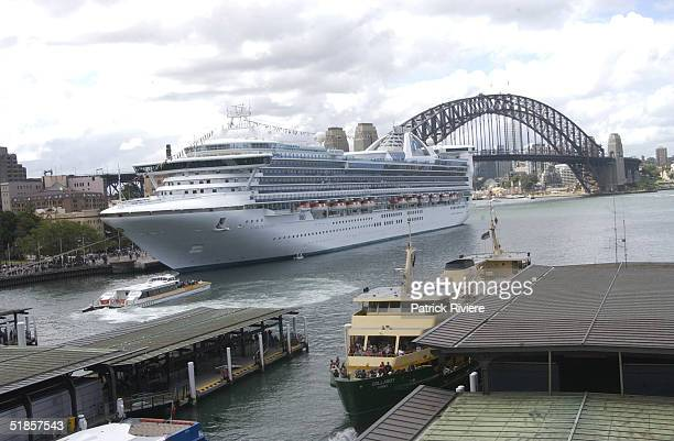 26 November 2003 The 109000ton Star Princess is the second biggest vessel of any type ever to sail into Sydney Harbour Australia