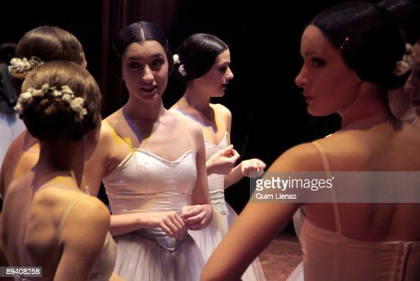 November, 2005. Madrid Dress rehearsal in the Theater of Madrid of 'Giselle' by the Company of Classical Ballet Art 369 that directs Maria Gimenez....