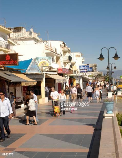 November 2006 Torremolinos Malaga Carihuela beach Promedade