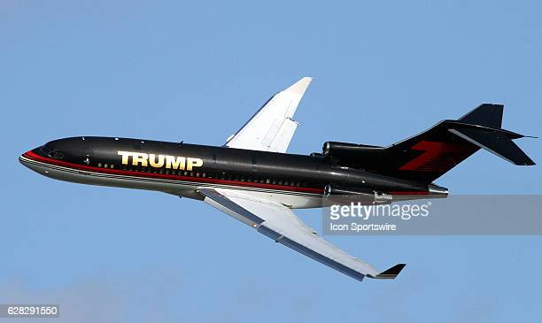 Donald Trump's immaculate Boeing 727-23 flying over the Trump International Golf Club hosting the LPGA ADT Tournament in West Palm Beach, Florida.