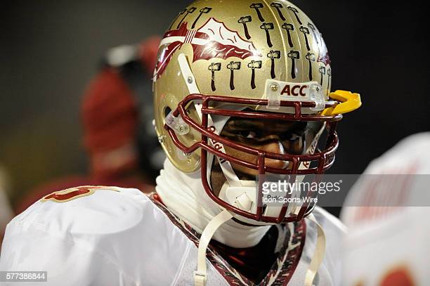 Florida State safety Myron Rolle stands on the sidelines in the 2nd half against Maryland on November 22 2008 in a game at Byrd Stadium in College...