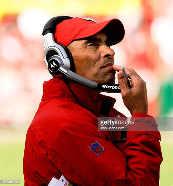 Kansas City Chiefs head coach Herm Edwards watches a play during the third quarter of action against the New Orleans Saints The Saints beat the...