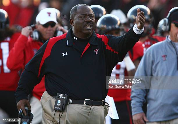 Texas Tech defensive coordinator Ruffin McNeil during Texas Tech's 35-28 victory over Baylor at Jones AT&T Stadium in Lubbock, Tx.