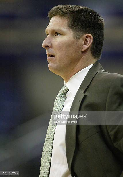 Wright State head coach Brad Brownell watches his players from the bench against Belmont Wright State won 8273 over Belmont in the Athletes in Action...