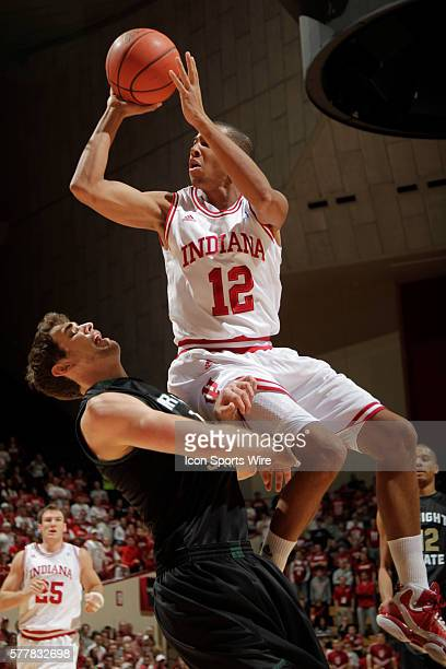 Indiana guard Verdell Jones III as the Indiana Hoosiers played the Wright State Raiders in a college basketball game in Bloomington Ind | Location...
