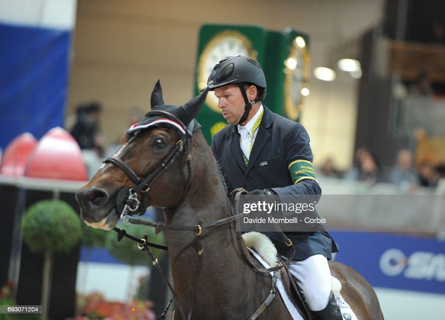 Eric Lamaze riding Hickstead during the Rolex Jumping Verona 2011 on November 6, 2011 in Verona, Italy.