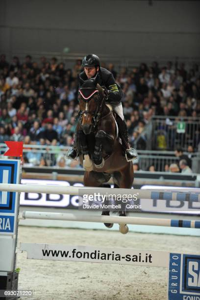 Eric Lamaze riding Hickstead during the Rolex Jumping Verona 2011 on November 6 2011 in Verona Italy